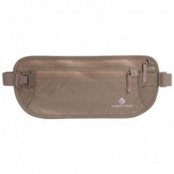 Portadocumentos de nylon con dos bolsillos para llevar en la cadera (Color Moca)