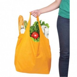 Bolsa de compra reutilizable y reversible (Color Naranja)