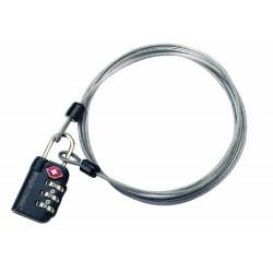 3 Dial TSA Lock & Cable