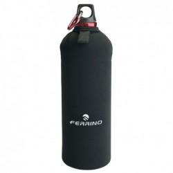 Botella Neodrink de aluminio 1 litro con funda de neopreno y mosquetón (Color Rojo)